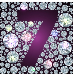 Diamond number seven vector image