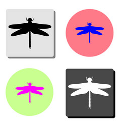 dragonfly flat icon vector image