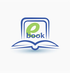 Ebook stylized symbol vector