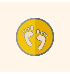 Feet flat icon vector