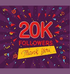 Followers 20k poster vector