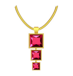 garnet jewelry icon realistic style vector image