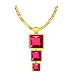 garnet jewelry icon realistic style vector image