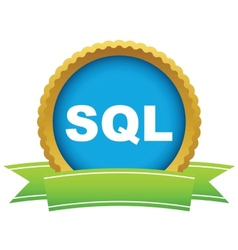 Gold sql logo vector