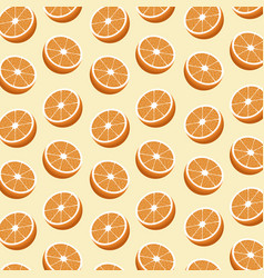 half orange fruit seamless pattern vector image