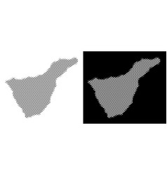 Halftone tenerife spain island map vector