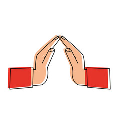 hands praying symbol vector image