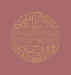 Home appliances concept household equipment vector