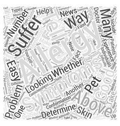 How to Tell If You Have Allergies Word Cloud vector