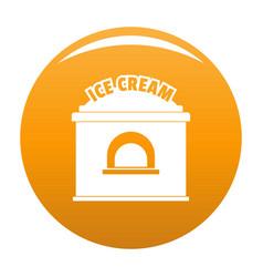 Ice creme trade icon orange vector