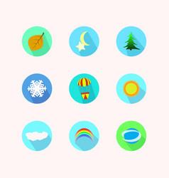 Icon nine nature vector