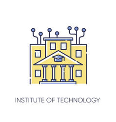 Institute technology rgb color icon vector