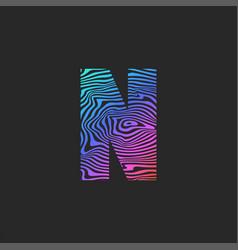 letter n logo initial monogram bright trendy vector image