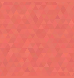 Living coral shades background square of triangles vector