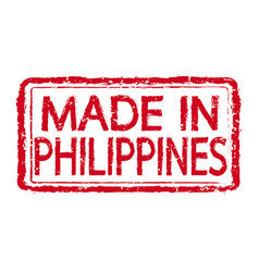 made in philippines stamp text vector image