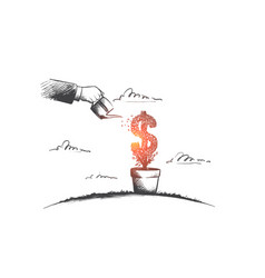 Money making concept hand drawn isolated vector