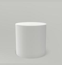 Museum pedestal white 3d podium column vector