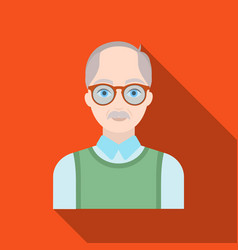 Old manold age single icon in flat style vector