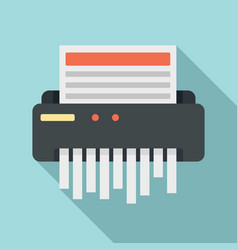 Paper shredder icon flat style vector