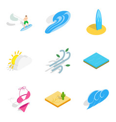 Pastime icons set isometric style vector
