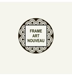 Premium Art Nouveau frame art deco monogram vector image