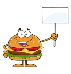 Protesting Hamburger Cartoon vector