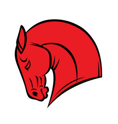 red head horse vector image