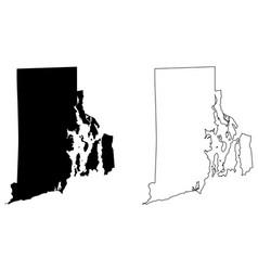 Rhode island ri state map usa vector