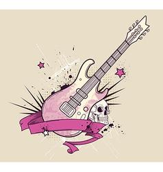 rock guitar vector image