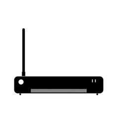 Router the black color icon vector