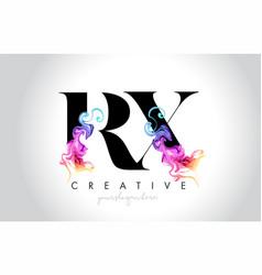 Rx vibrant creative leter logo design vector