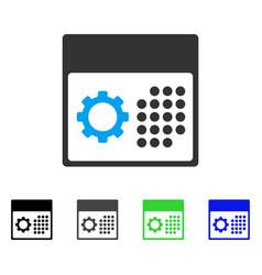 Service calendar flat icon vector