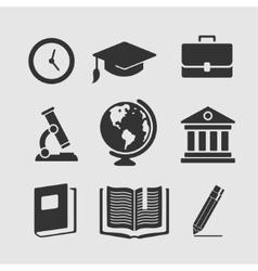 set symbols education vector image