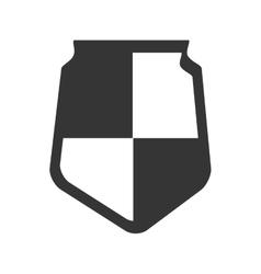 shield insignia protection icon graphic vector image