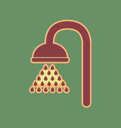 Shower sign cordovan icon and mellow vector