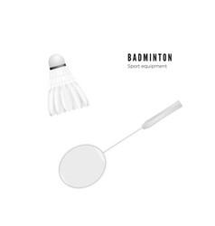 shuttlecock and racket badminton - sport vector image
