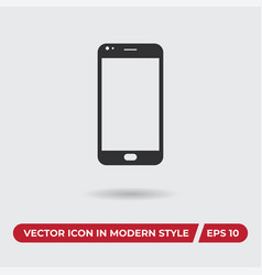smartphone icon in modern style for web site and vector image