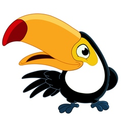 smiling toucan vector image
