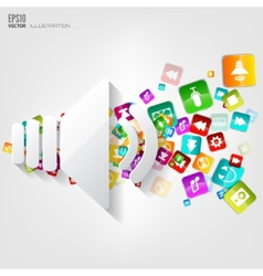 Sound icon Application buttonSocial mediaCloud vector image