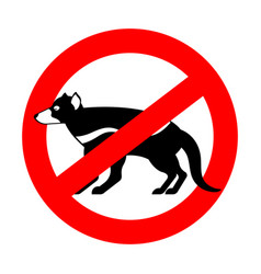 stop tasmanian devil wild animal is forbidden one vector image