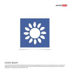 Sun icon - blue photo frame vector