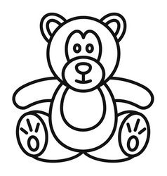 teddy bear icon outline style vector image