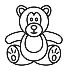 Teddy bear icon outline style vector