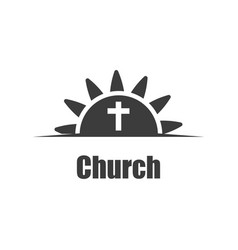 template logo for christian organizations and vector image