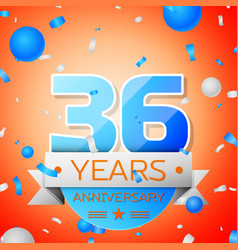 Thirty six years anniversary celebration vector