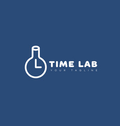 Time lab logo vector