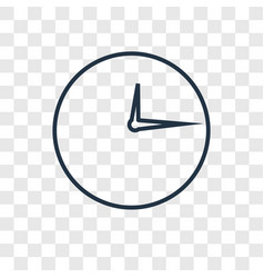 timer concept linear icon isolated on transparent vector image