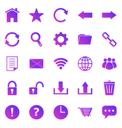 tool bar gradient icons on white background vector image