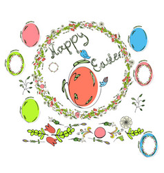 traditional greeting card for happy easter vector image