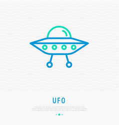 Ufo thin line icon modern vector